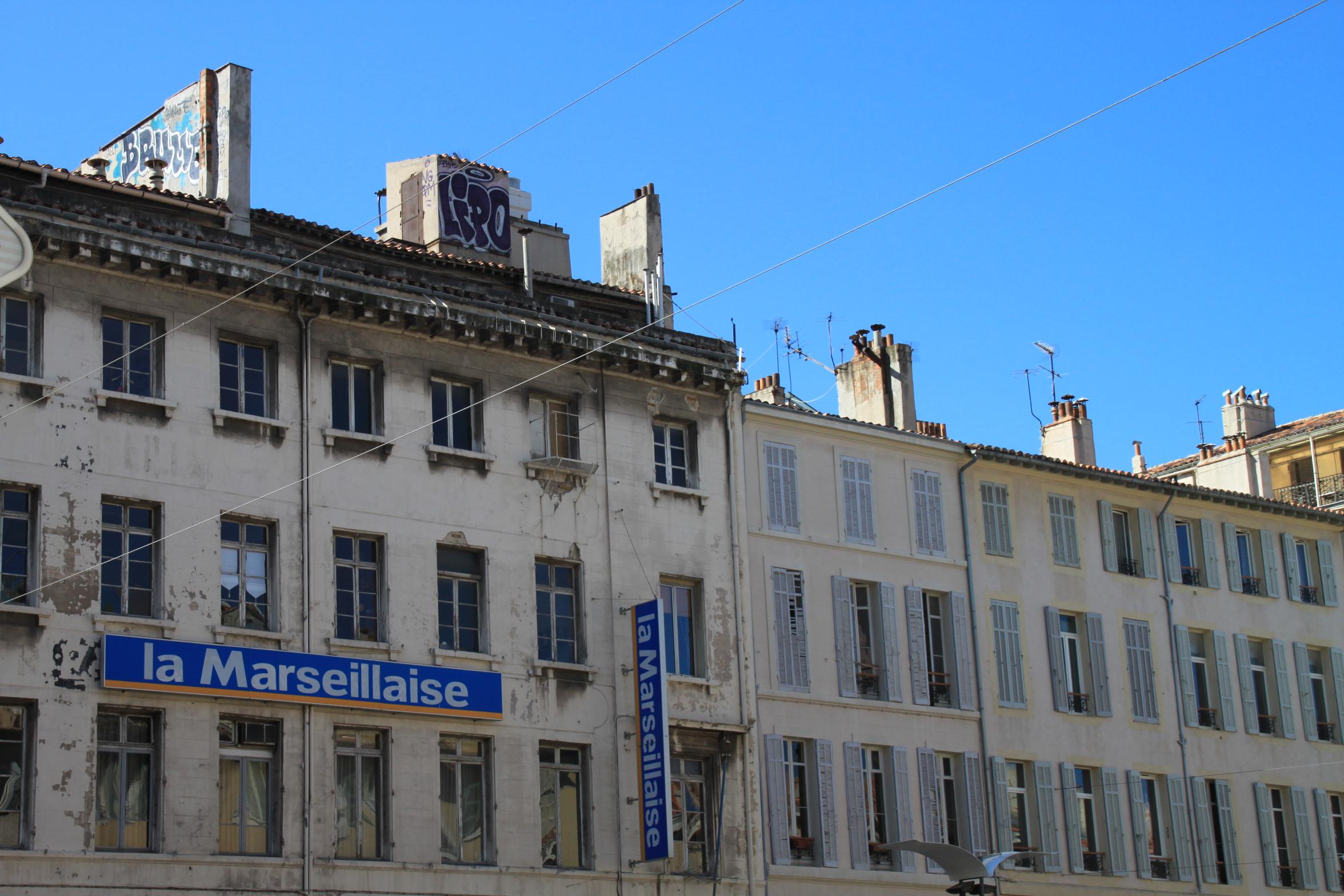Marseille fa ade immeuble de la marseillaise le journal flickr photo sh - Le journal de marseille ...