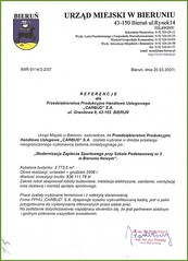 Referencje Urzędu Miejskiego w Bieruniu 2007r.