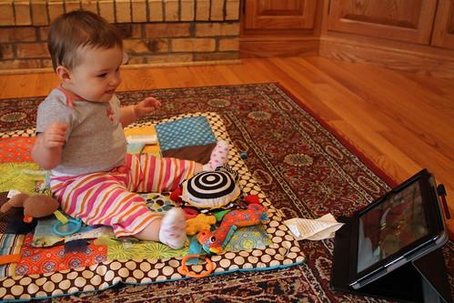 Evelyn Watching Sesame Street