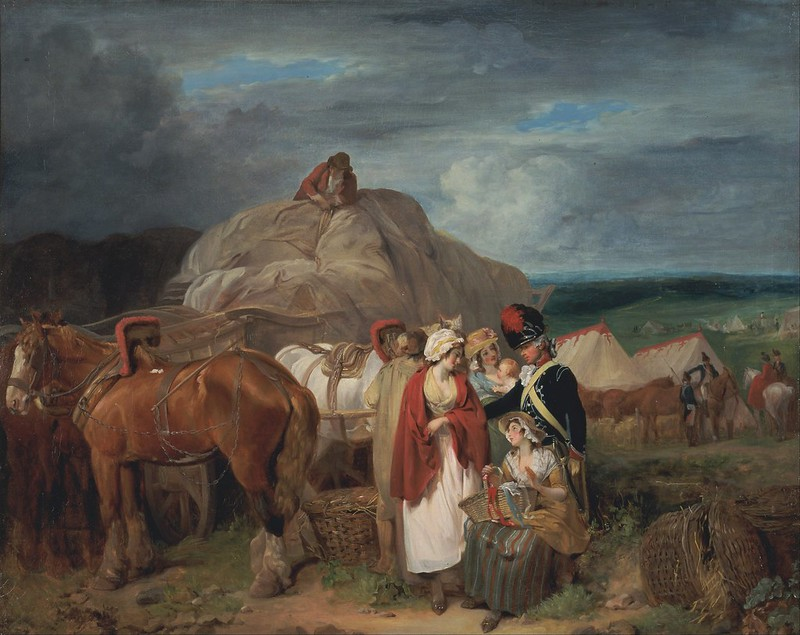 Francis Wheatley - Soldier with Country Women Selling Ribbons, near a Military Camp