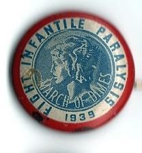 1939MarchofDimesFightInfantileParalysis button