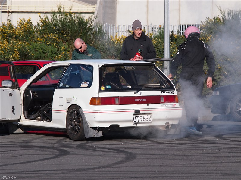 EF Honda Civic on fire!