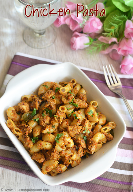 Chicken Masala Pasta Recipe