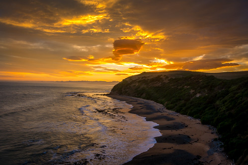new sunset newzealand cloudy zealand otago oamaru