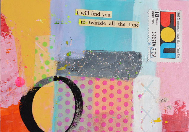 DIY Postcard: I will find you to twinkle all the time