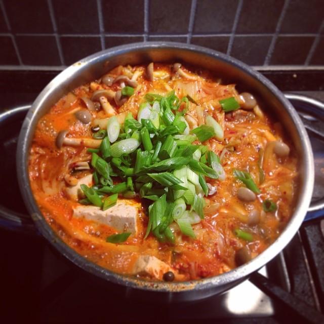 Homemade #kimchi #jjigae. ❤️