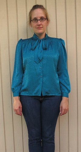 Teal Blouse - Before