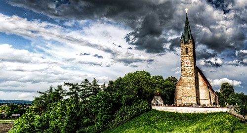 On a hill stands a church