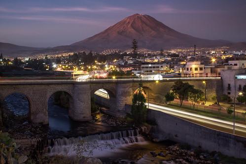 longexposure bridge sunset peru rio river puente arequipa misti nd400 bolognesi efectoseda