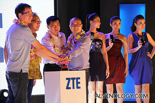 ZTE senior management in SEA on stage to launch the three phones