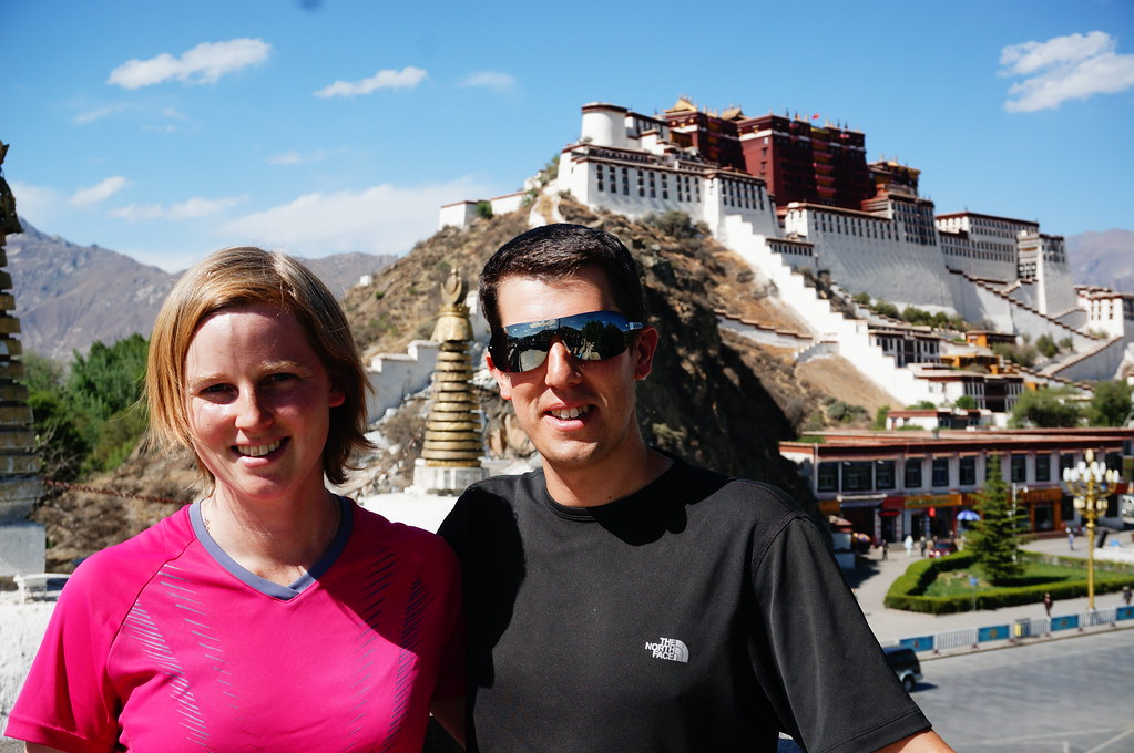 Annemarie and Andrew in front of the Potala Palace