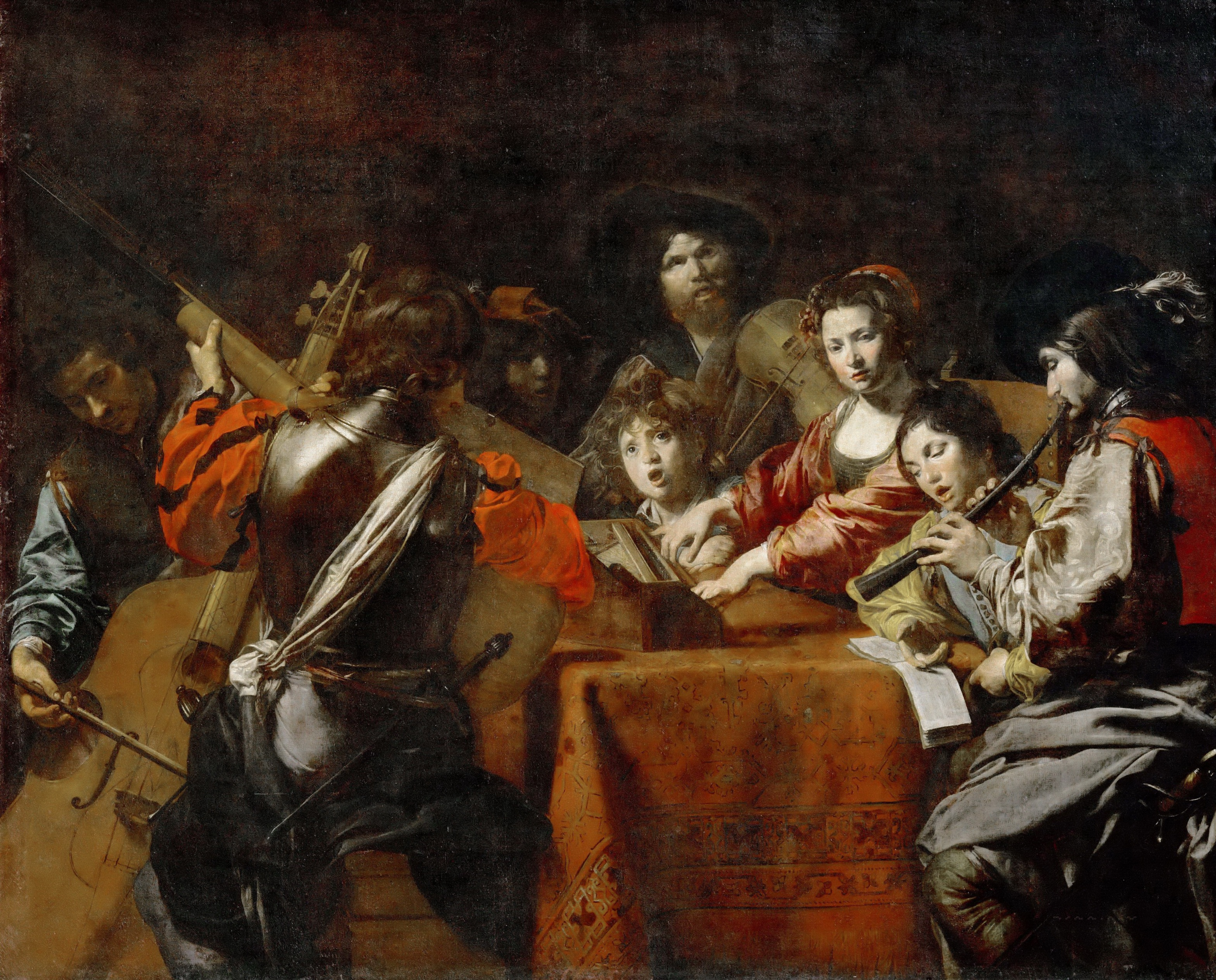 Valentin De Boulogne   A Concert [c.1628]