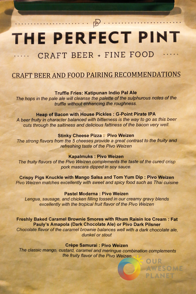 The perfect pint philippine craft beers x filipino food for Perfect kitchen menu harrogate