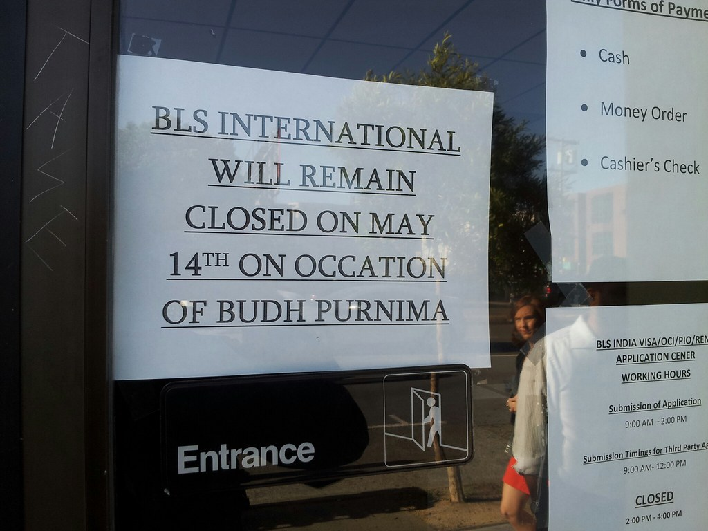 BLS International San Francisco Visa Closed on Budh Purnima