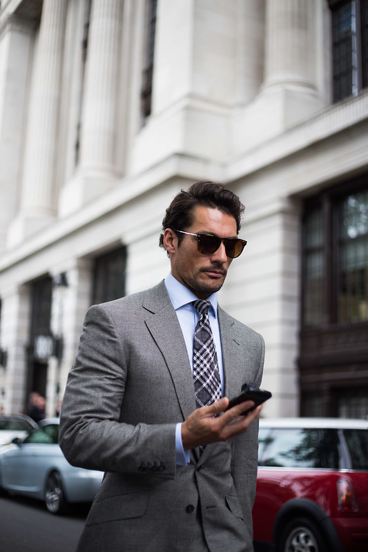 Street Style - David Gandy, London Collections: Men