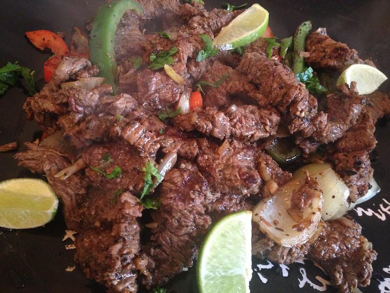 Beef Fajitas : Garnish with Fresh Herbs