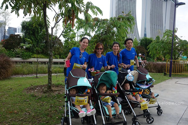Backdrop of Marina Bay Sands during the Cold Storage Stroller Run