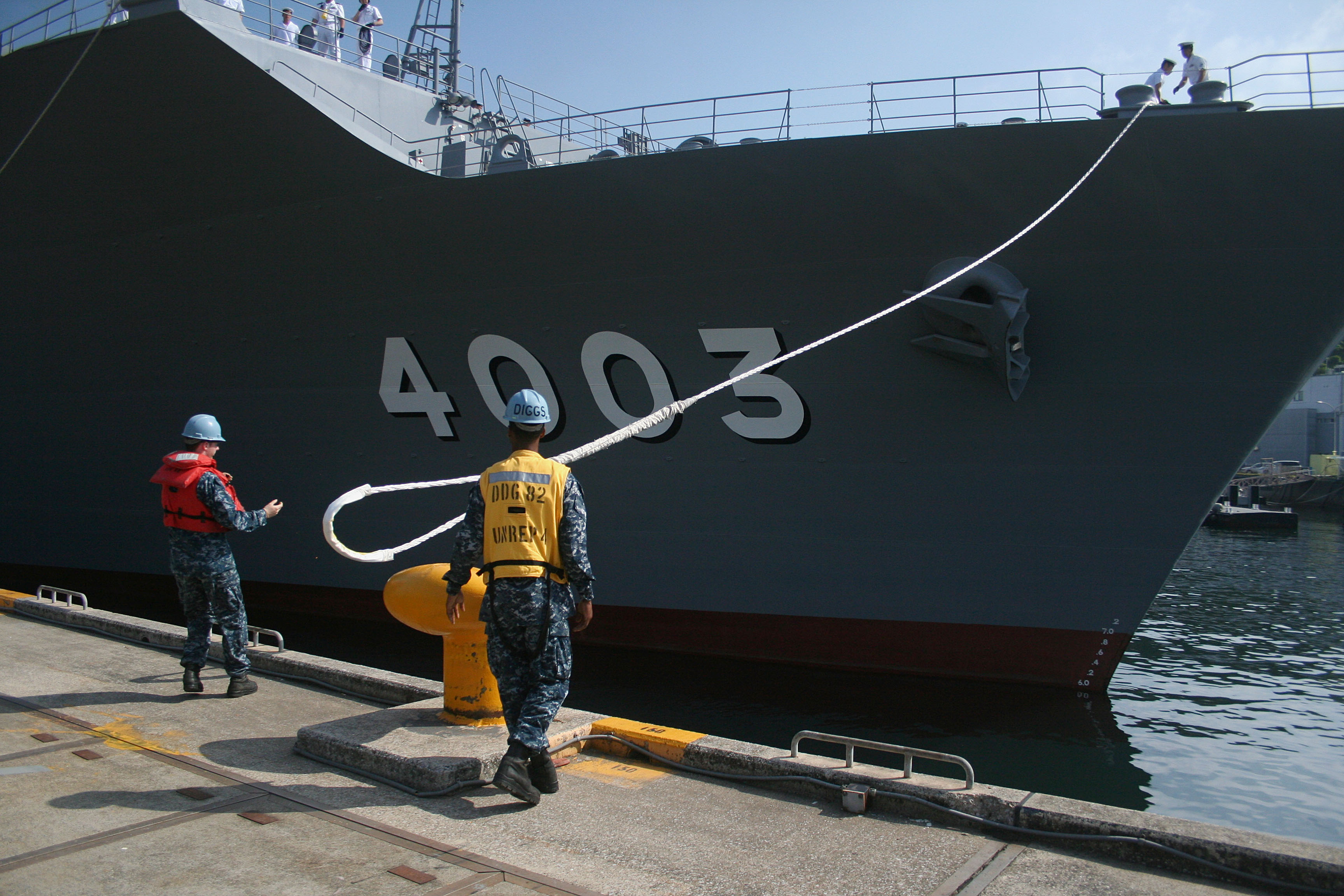 JS Kunisaki Departs for Pacific Partnership 2014
