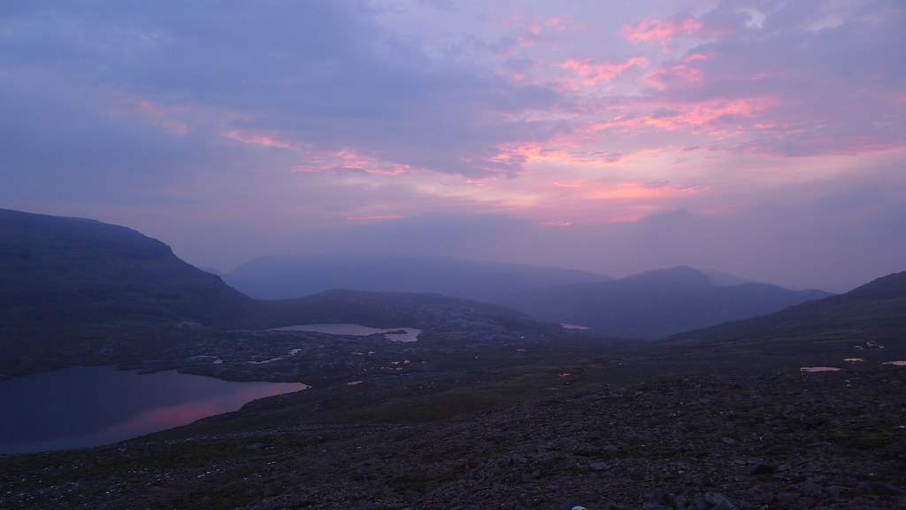 Sunset from Ruadh Stac Beag