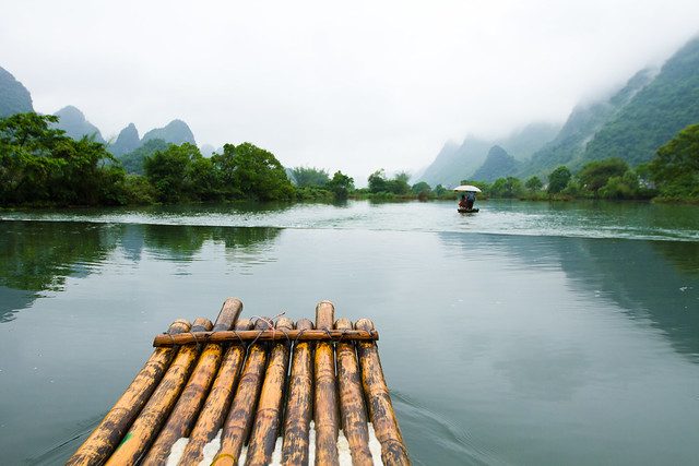 Rafting in Yulong River