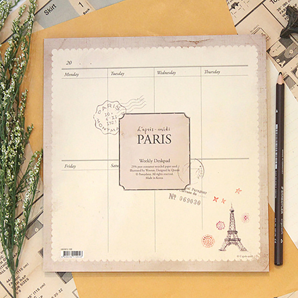Paris Weekly Desk Planner by L'après-midi
