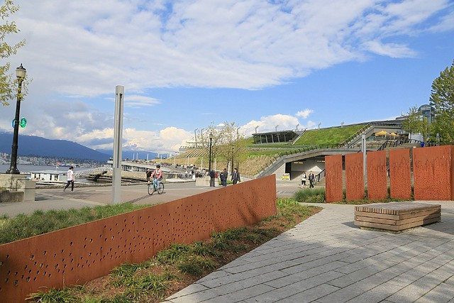 Komagata Maru memorial, Harbour Green Park, Coal Harbour, Vancouver, Canada