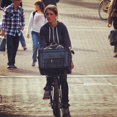 Cycling home from school #girlonbike #Amsterdam #cycling
