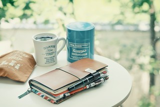Have a coffee table trip with TRAVELER'S notebook.