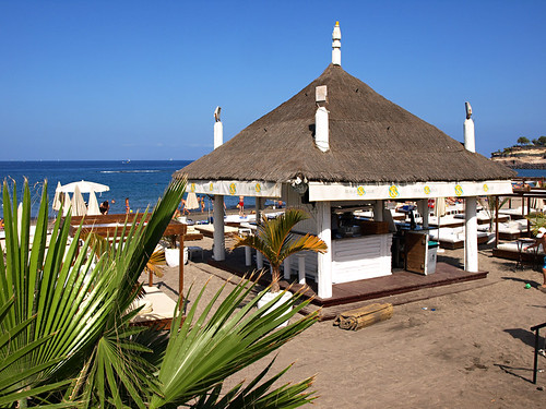 Beach bar, Fañabe, Costa Adeje, Tenerife