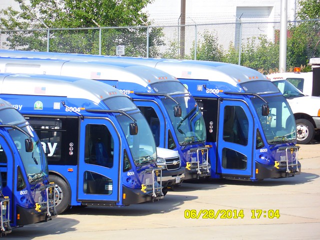 WMATA Metrobus / MetroWay: 2014 NABI 42-BRT (Hybrid) #8004 / #8011 / #8009... BRAND NEW!