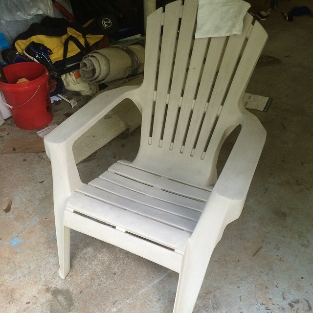 Ugly plastic Adirondack chair