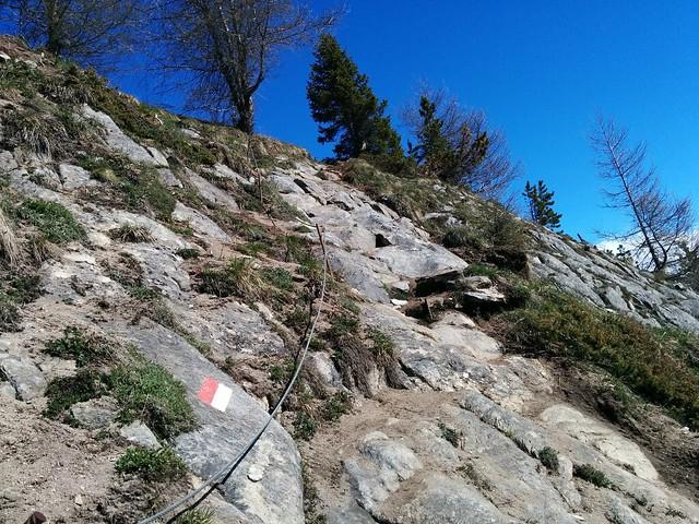 Drahtseilgesicherter Gipfelanstieg Wolfskofel Südtirol