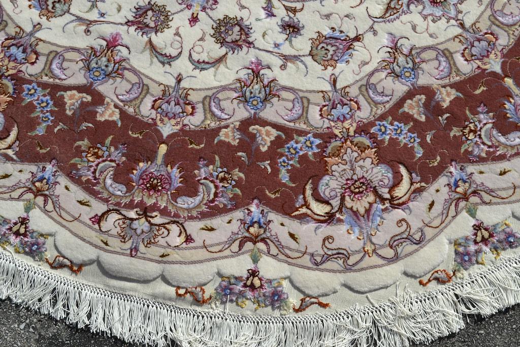 Olia Tabriz Circular Persian Rug 7x7