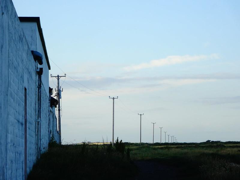 Powerlines going northeast