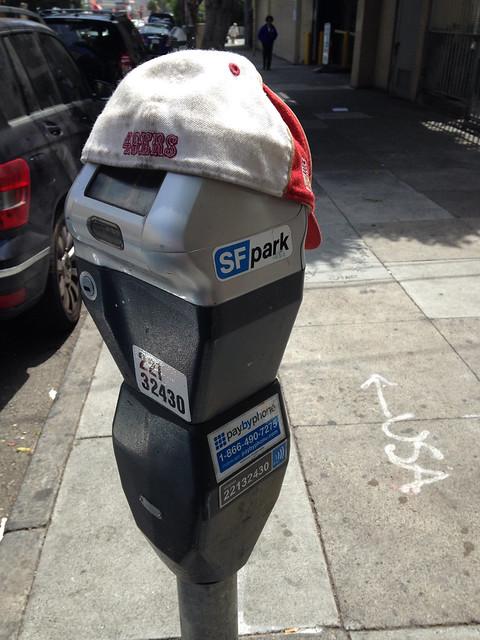 Hip parking meter