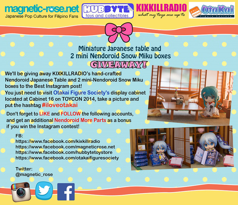 magnetic-rose.net X Hubbyte Toy Store x Kixkillradio ToyCon 2014 Giveway