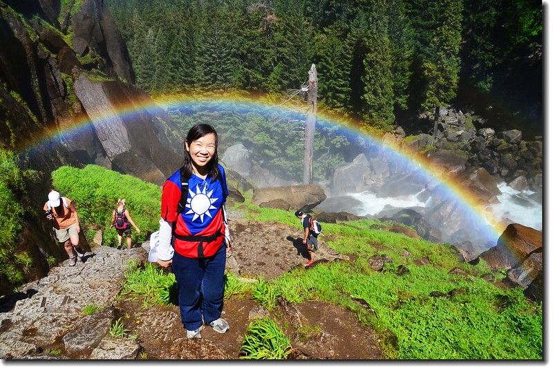 Taken under rainbow, Vernal Fall 5