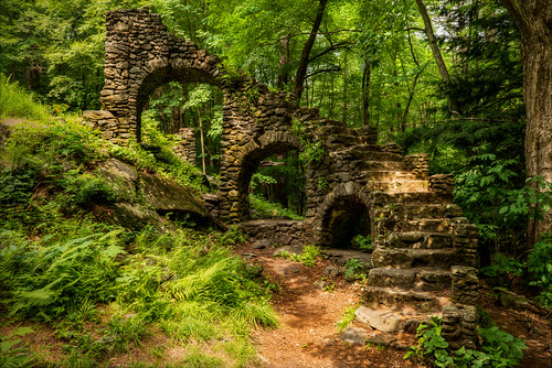 trees castle abandoned stone stairs outside ruins unitedstates newengland newhampshire staircase granite chesterfield madamesherri stairstonowhere legendtripping