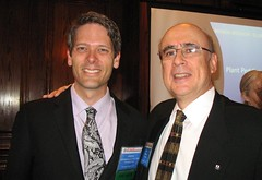 Incoming President, Joseph Geierman, with outgoing President, Ken Bryson, at the June Luncheon