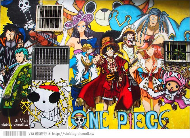 【台中海賊王彩繪】台中新遊點!小巷裡出現海賊王彩繪牆~ONE PIECE迷必訪!4