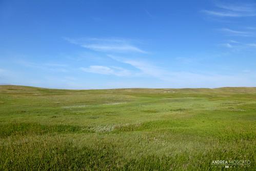 blue light sky usa sun green nature colors grass clouds america landscape us nuvole view unitedstates natural hill vivid natura cielo vista prairie paesaggio statiuniti naturale andreamoscato
