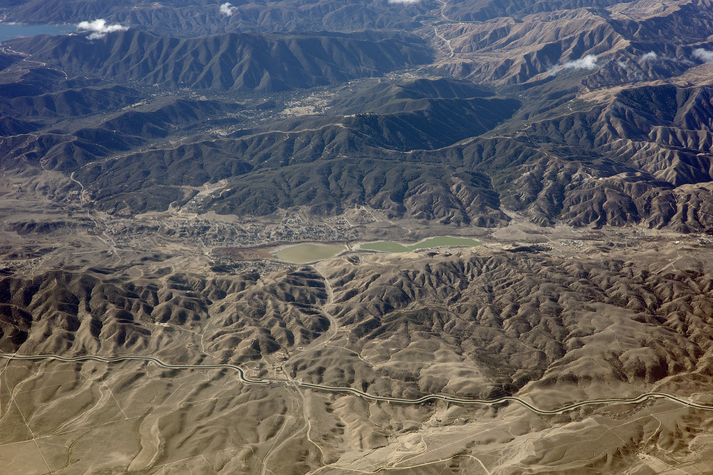 Above the San Andreas Fault and Lake Elizabeth, Los Angeles County, California