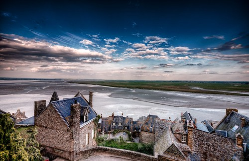 sky cloud france building castle monument grass saint landscape outdoors europe day sheep landmark lower michel normandy mont dreamscape montsaintmichel riccardo dreamview mantero pwpartlycloudy