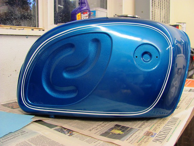Final Pinstriped Gas Tank