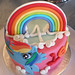 My LIttle Pony - Rainbow Dash Cake - <span>©CupCakeBite</span>