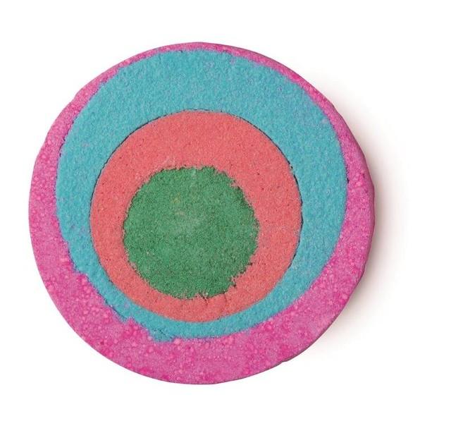 LUSH-summer-2014-Granny-takes-a-dip, bath bomb, lush bath bomb, colourful bath bomb, vegan soap, lush soap