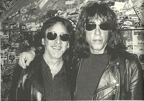 (Undated) Peter Criss (Kiss)? Marky Ramone (Ramones) @ CBGB, NYC, NY