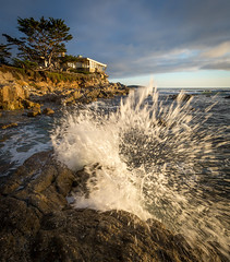 Crashing Waves at Seaburst House - Carmel, CA