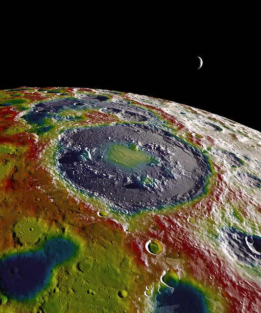 Free-Air Gravity Map of the Moon