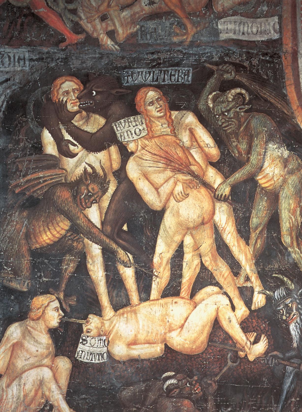 Taddeo di Bartolo - El Juicio Final (detalle de sodomitas) c.1394